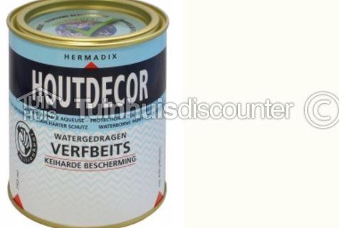 Hermadix Houtdecor Kleuren.Accessoire Hermadix Houtdecor Verfbeits Wit Dekkend 619 2 5l